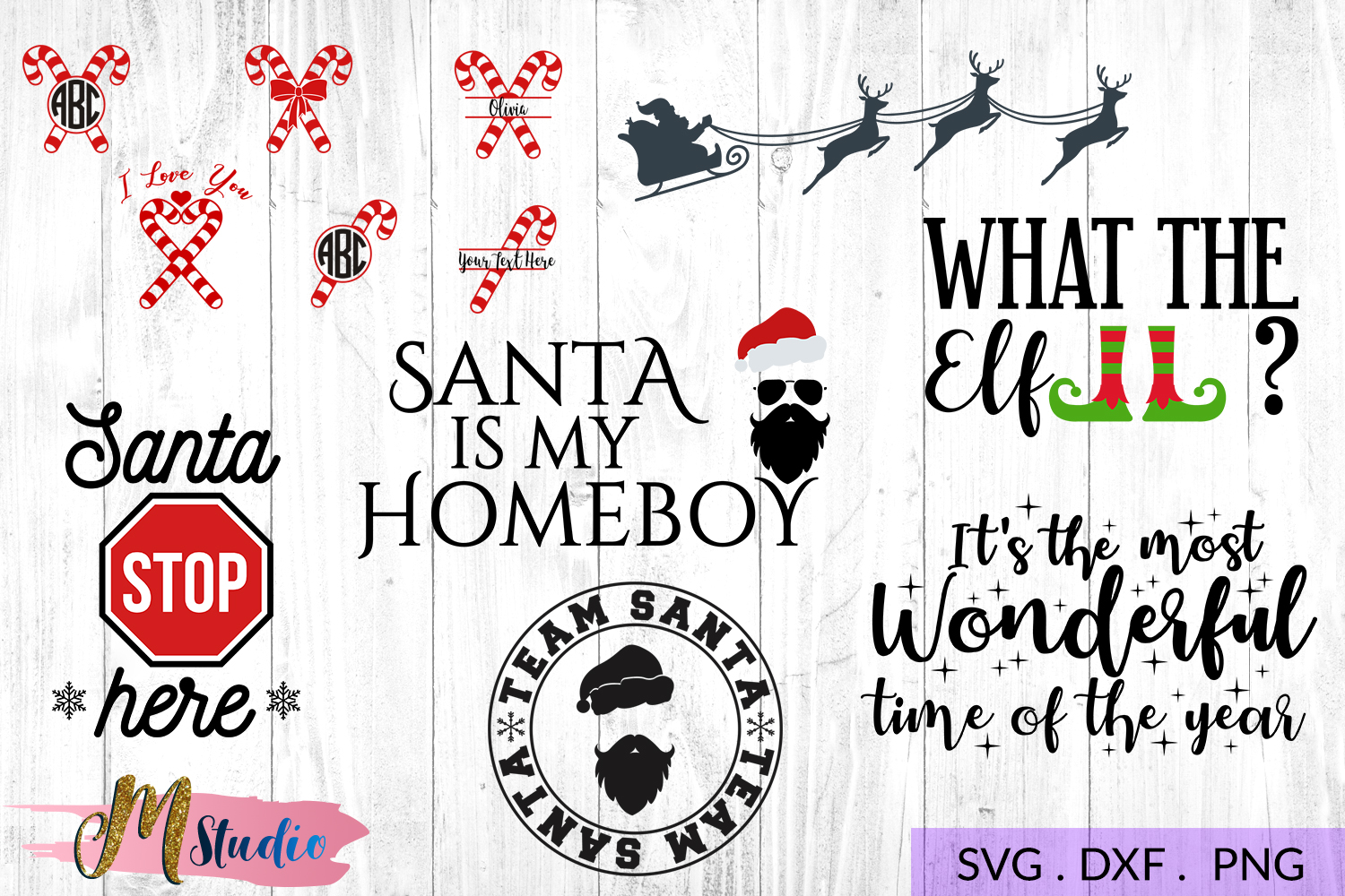 The big christmas svg bundle, Christmas SVG Cut File. example image 7