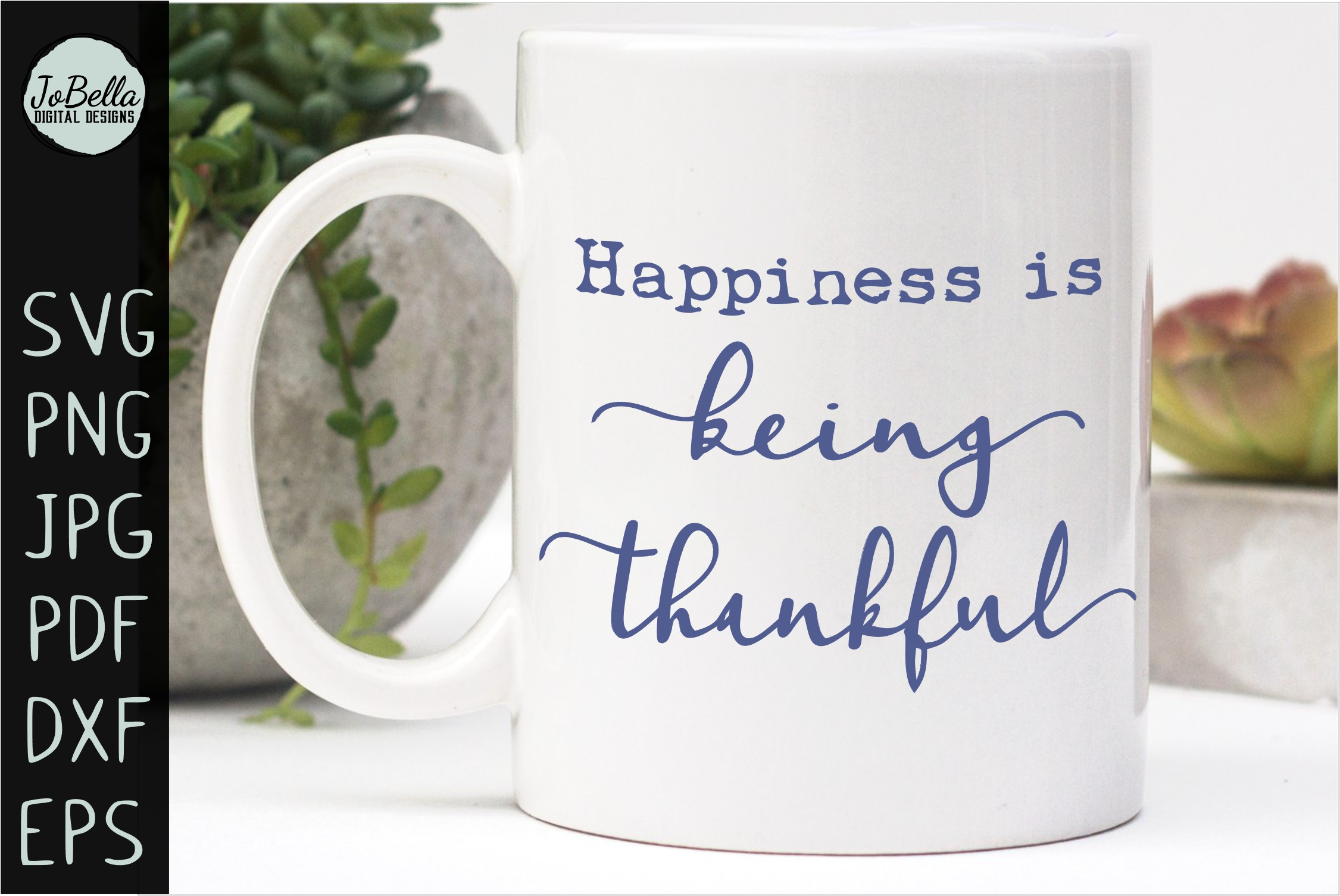 Being Thankful Thanksgiving SVG, Sublimation PNG & Printable example image 2