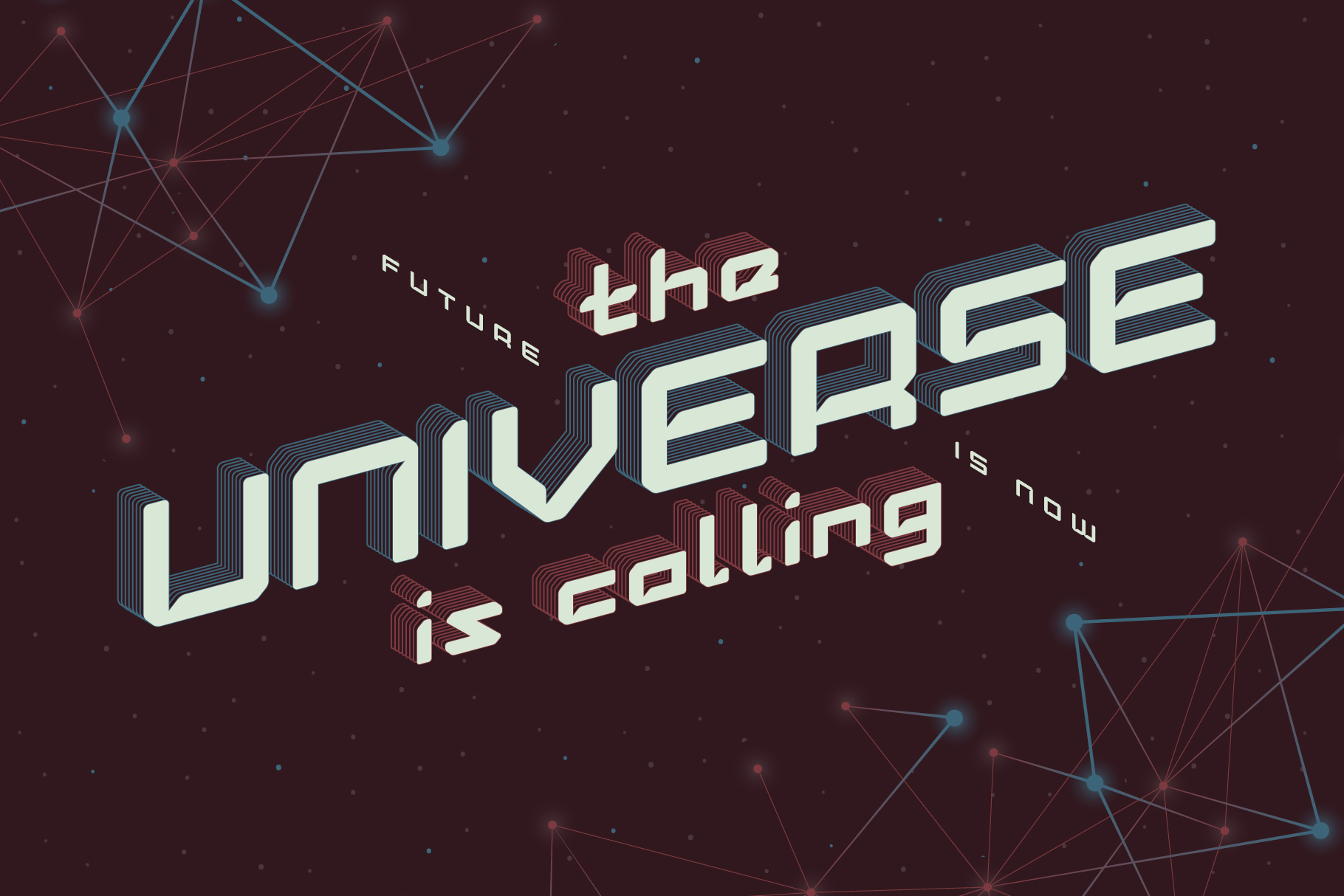 Lost in space. Futuristic typeface example image 2
