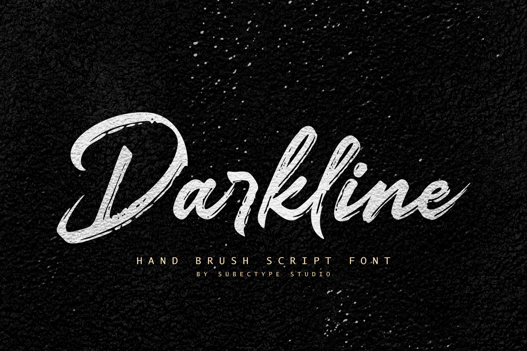 Darkline Brush Script Font example image 1