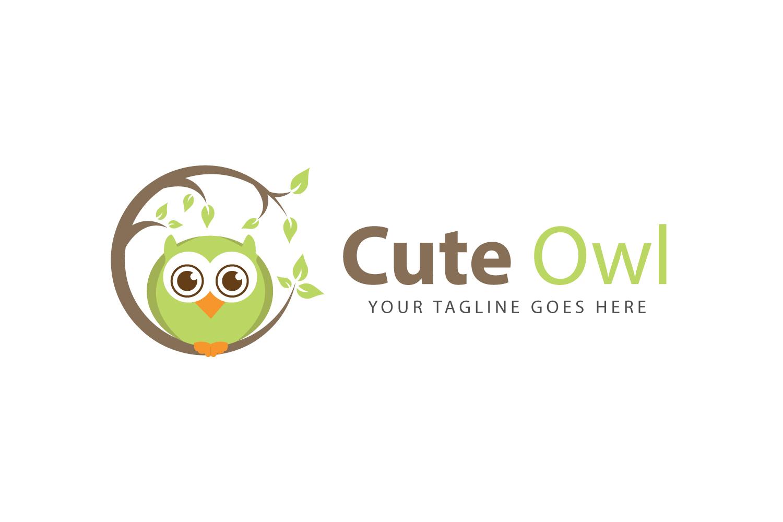 Cute Owl Bird Logo example image 1