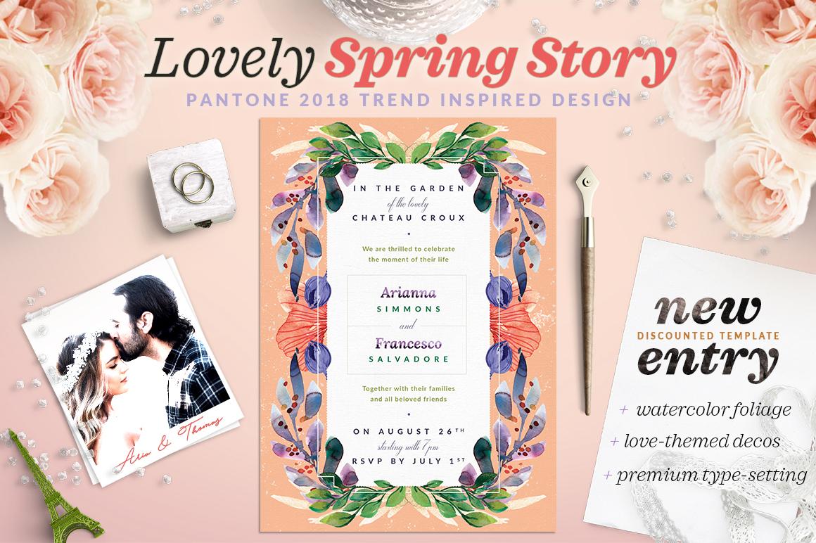 Lovely Spring Story Invite I example image 1