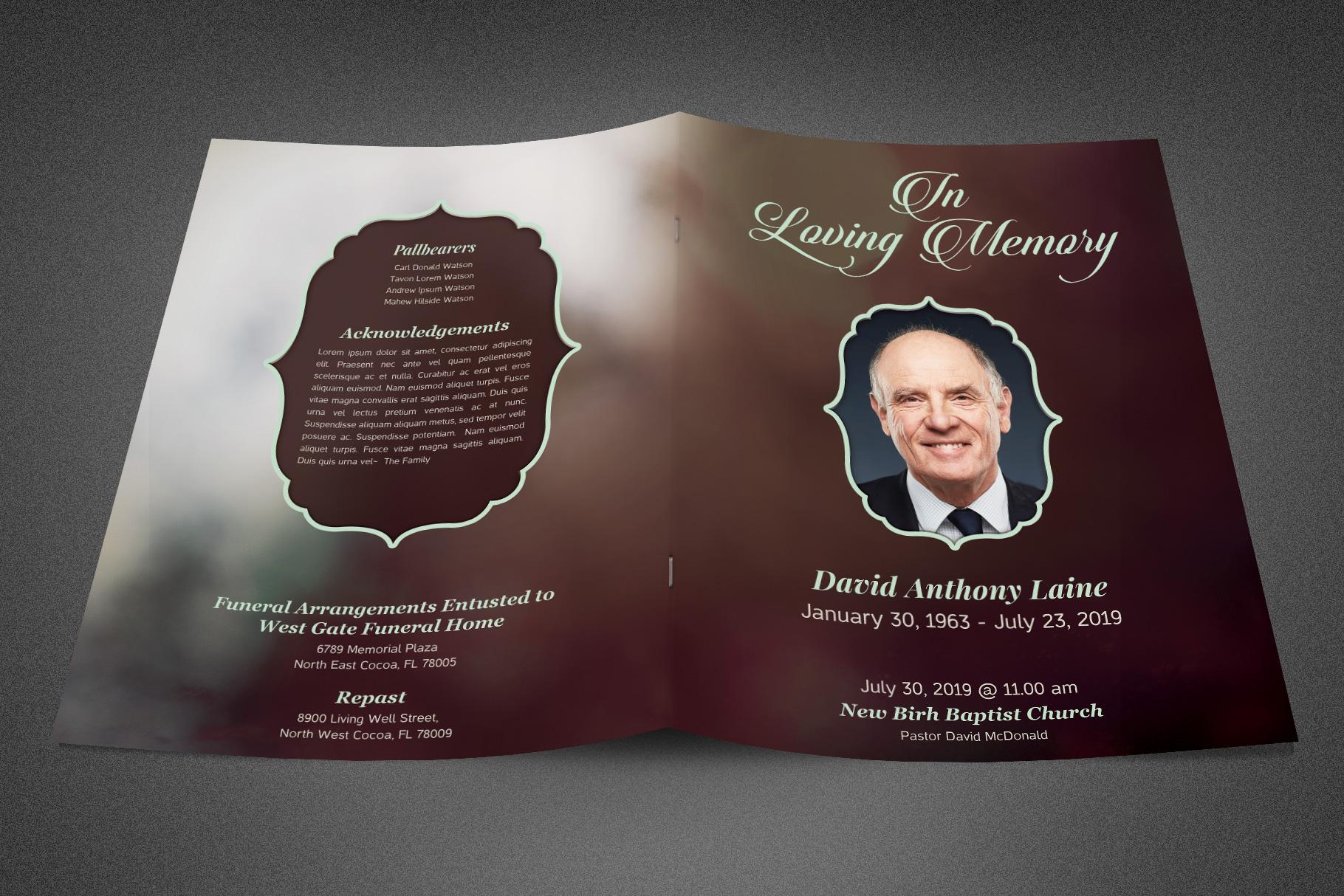 In Loving Memory Funeral Program example image 2