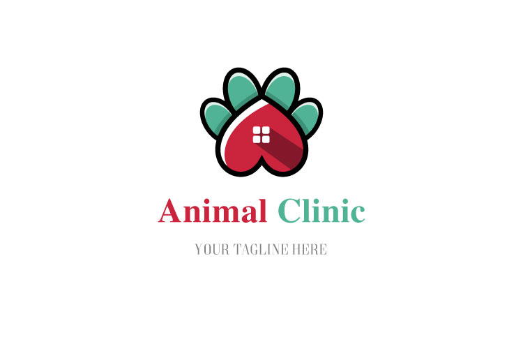 Animal Paw Vet Logo example image 1