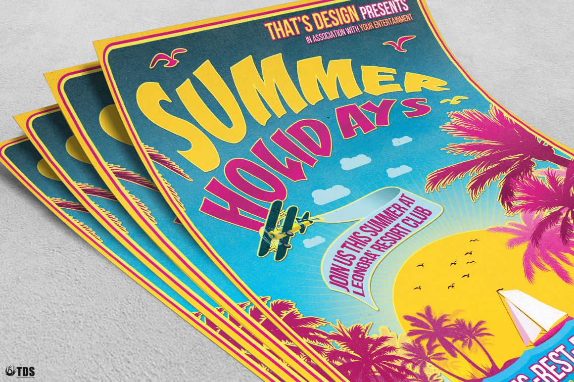 Summer Holidays Flyer Template V2 example image 4
