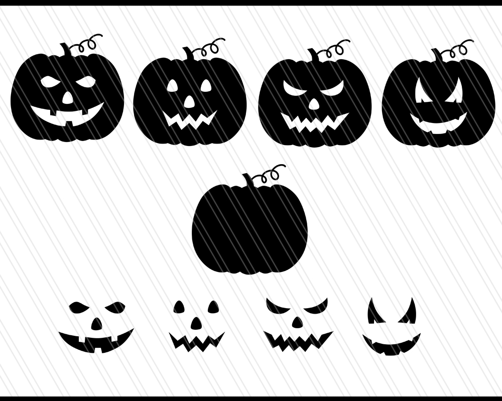 Pumpkin Monogram svg/dxf cutting files example image 2