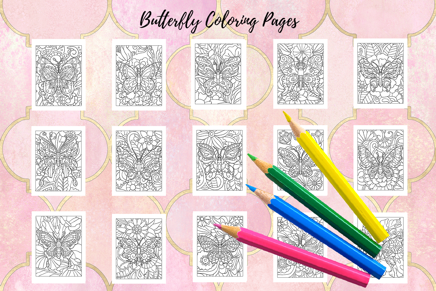 Coloring Pages For Kids - 15 Butterfly Coloring Pages example image 2