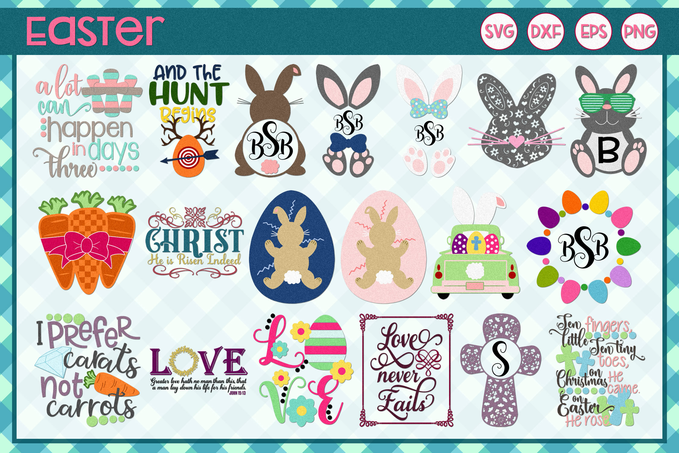 Spring Crafters Mega Bundle 250 Designs SVG DXF EPS PNG example image 3