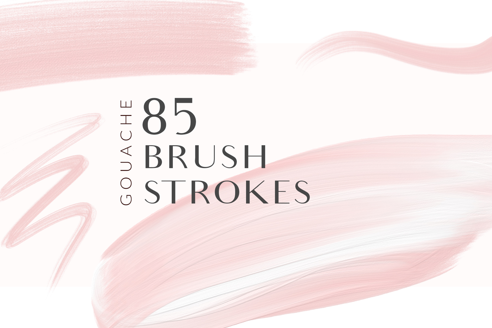 Blush Pink Brush Strokes Clipart example image 1