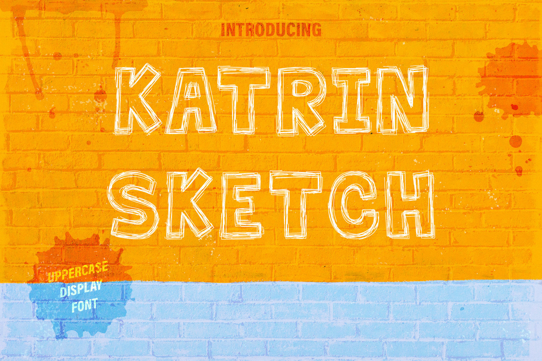 Katrin Sketch - Uppercase Font example image 1