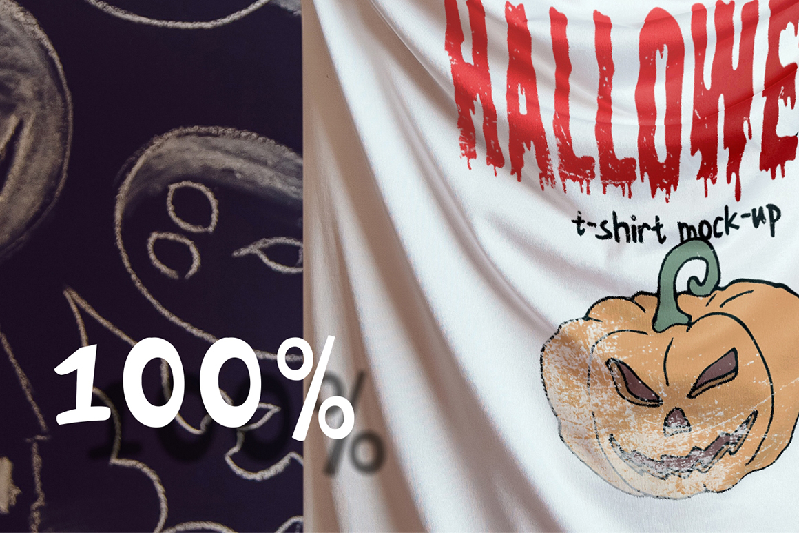 Halloween T-Shirt Mock-Up example image 9
