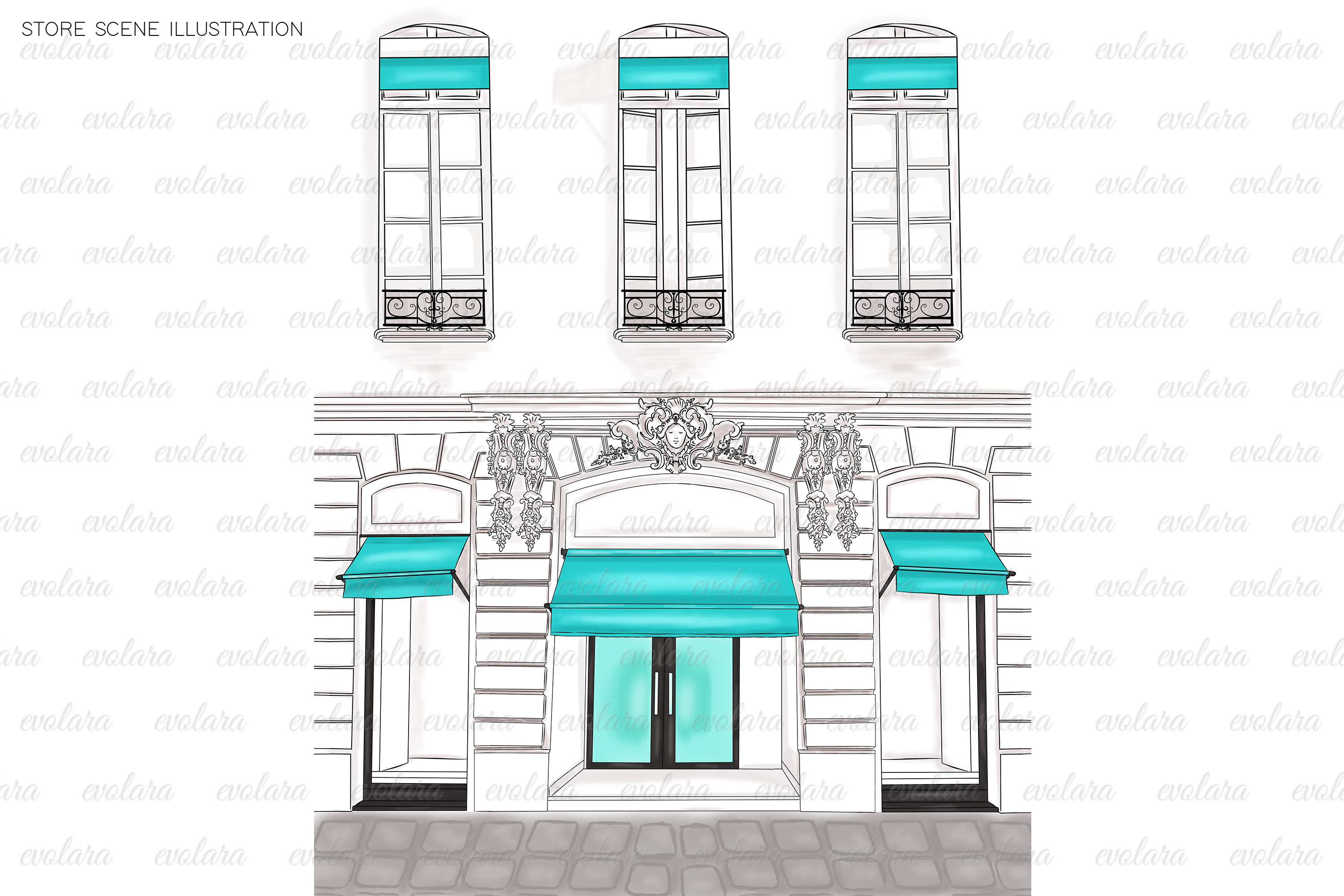 Blue Mint Clipart Fashion Illustrations Breakfast At Clipart example image 2