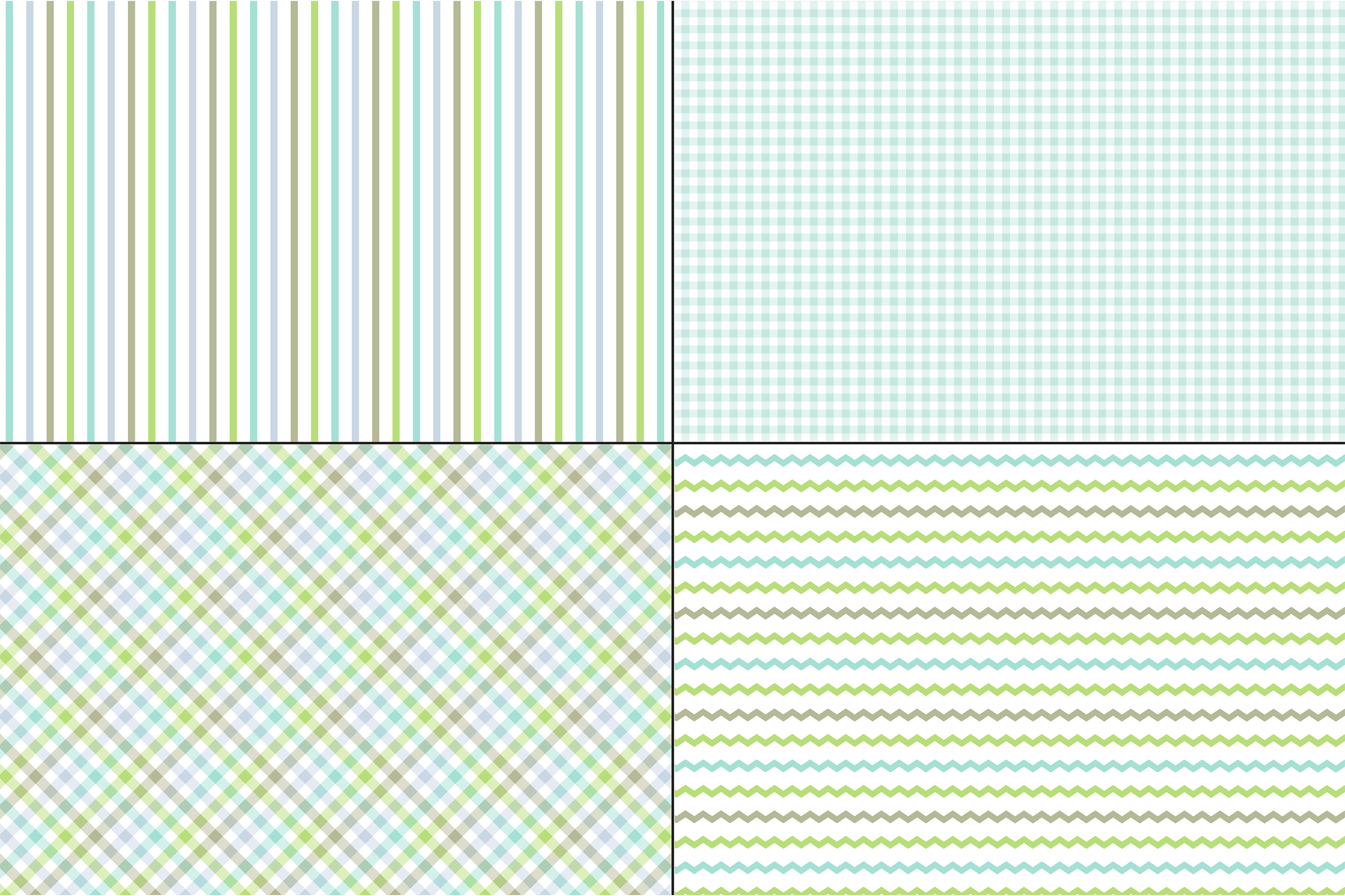 Blue Green Stripes & Plaids example image 2