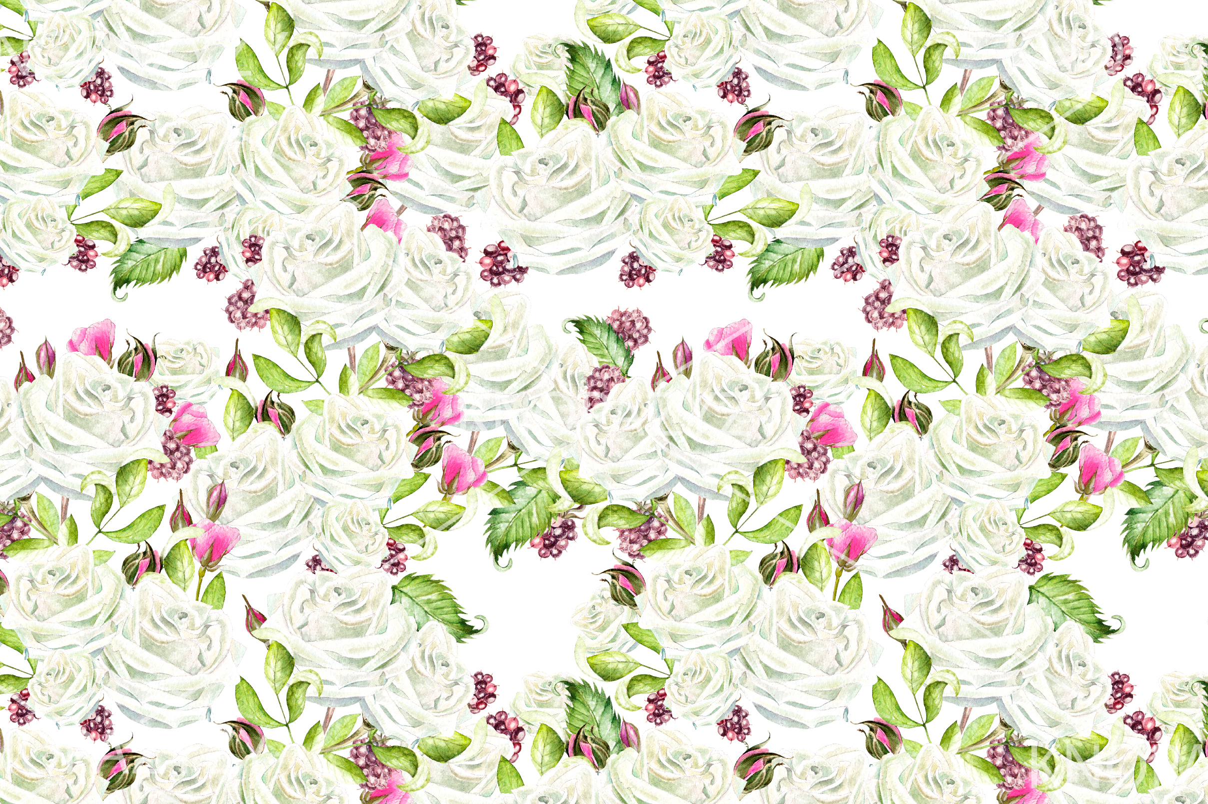 15 Hand Drawn Watercolor PATTERNS example image 6