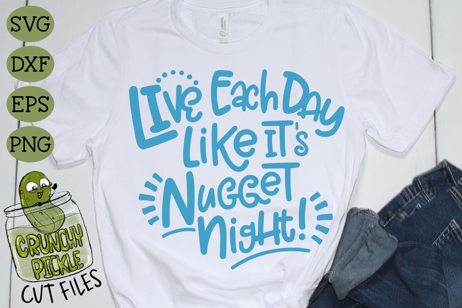 Live Each Day Like It's Nugget Night SVG Cut File example image 5
