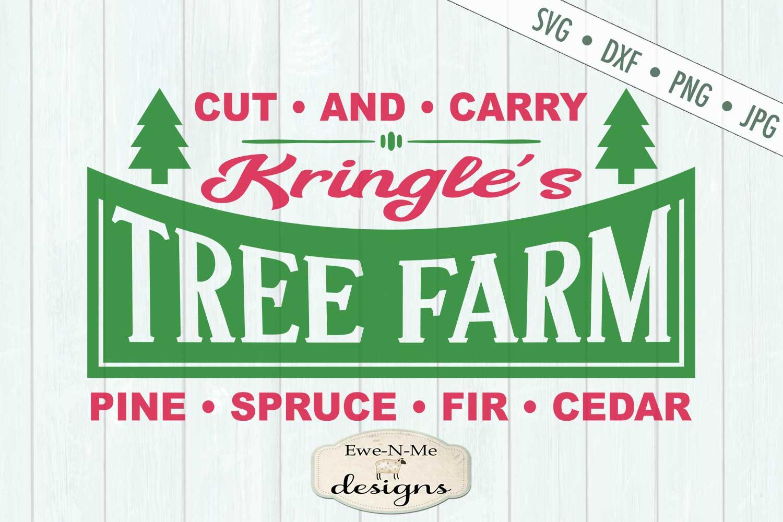 Kringles Tree Farm - Christmas - Retro Christmas - SVG DXF example image 2