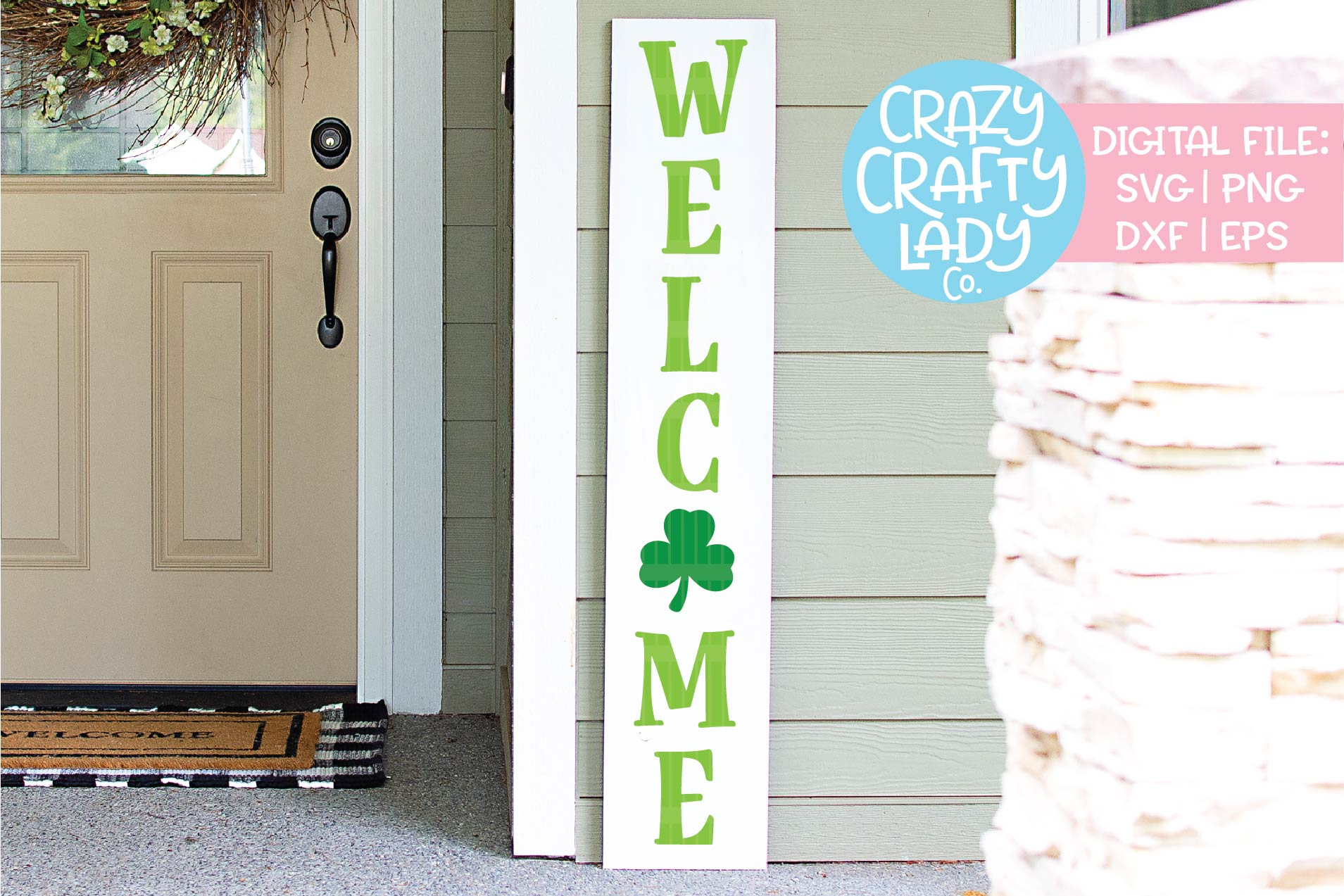 Welcome St. Patrick's Porch Sign SVG DXF EPS PNG Cut File example image 1
