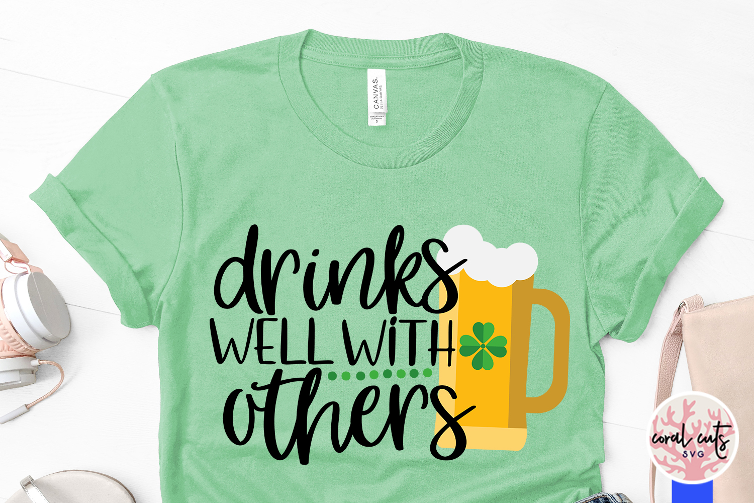 Drink well with others - St. Patrick's Day SVG EPS DXF PNG example image 3