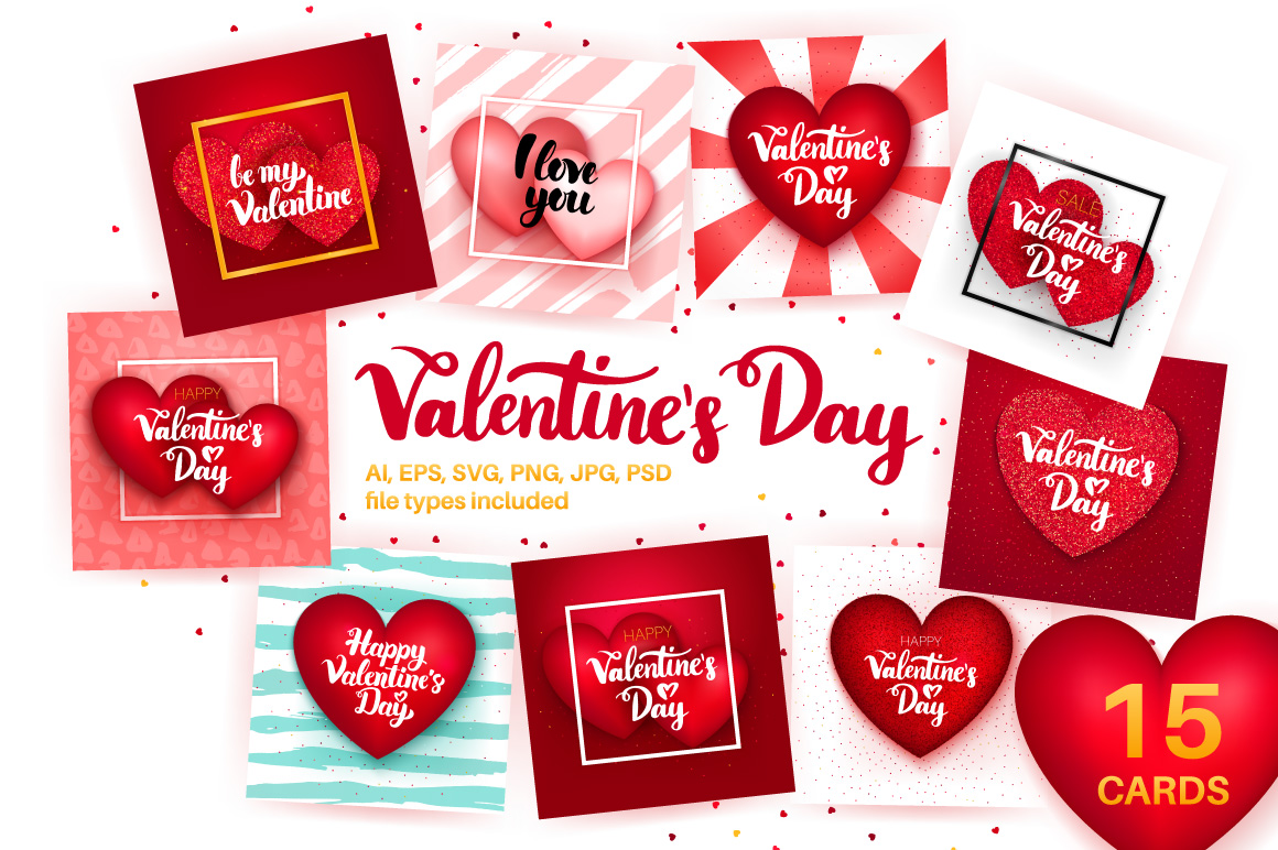 Valentine's Day Greeting Cards example image 1