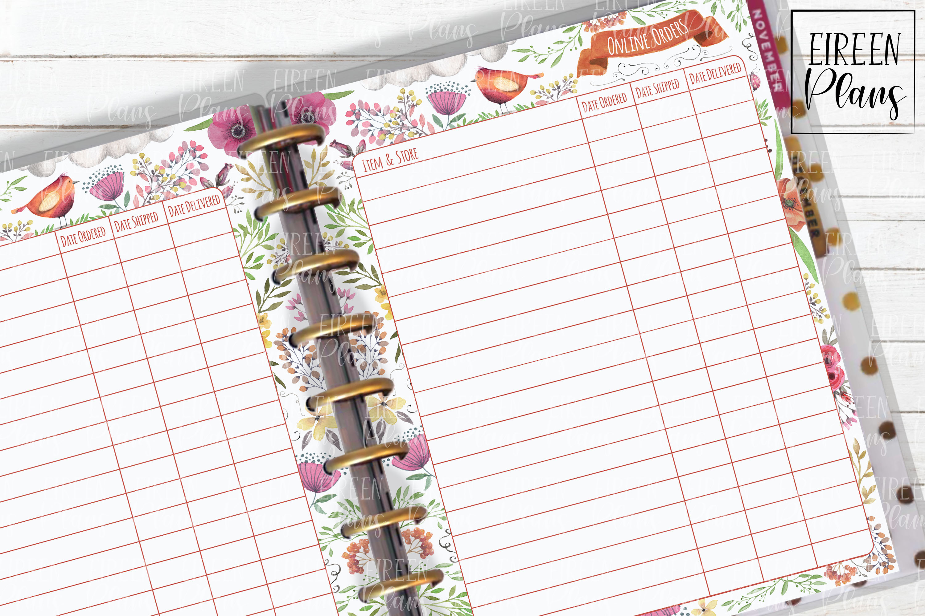 Onilne Orders Tracker for Classic Happy Planner example image 1
