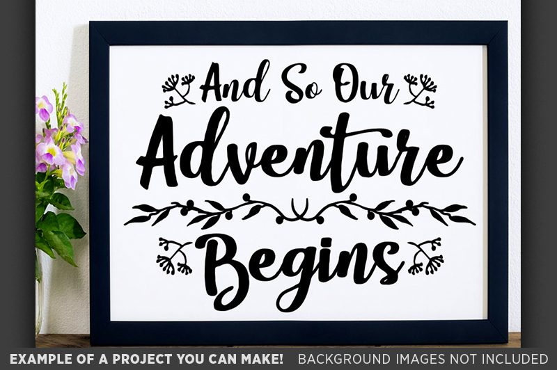 And So Our Adventure Begins SVG Wedding Sign - 5512 example image 3