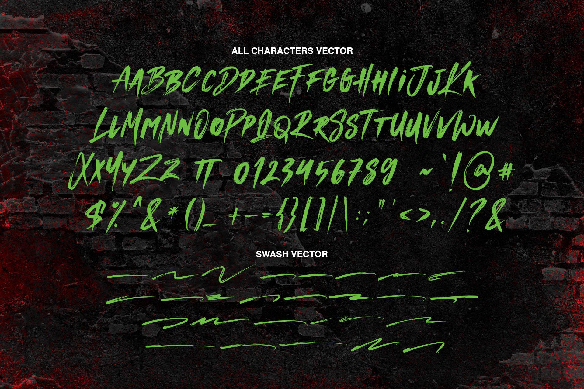 MANKIND - SVG Brush Font example image 10