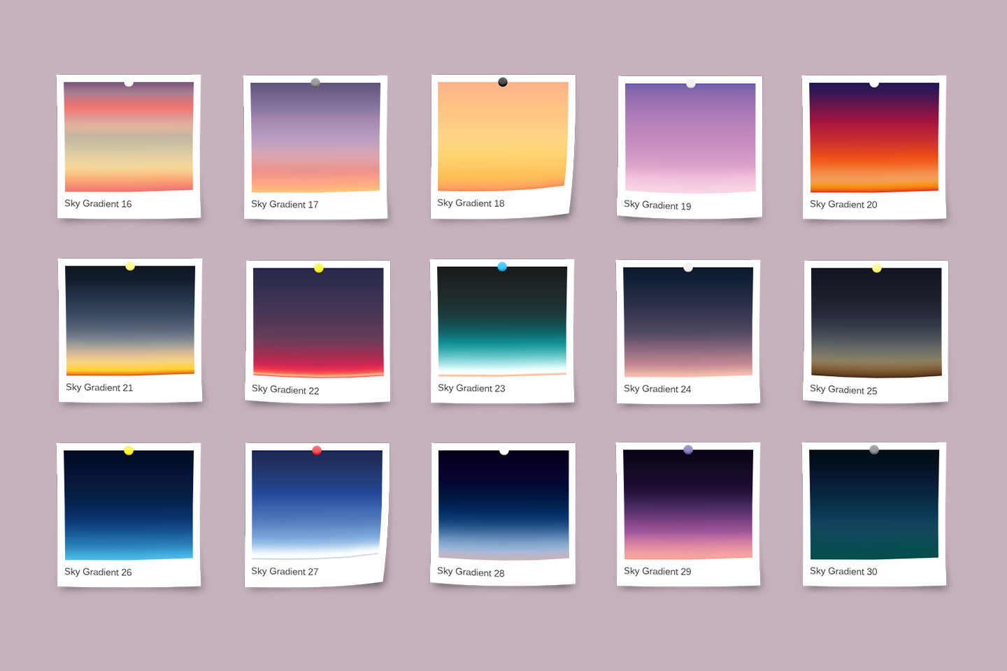 30 Realistic Sky Gradients for Photoshop & Illustrator example image 3