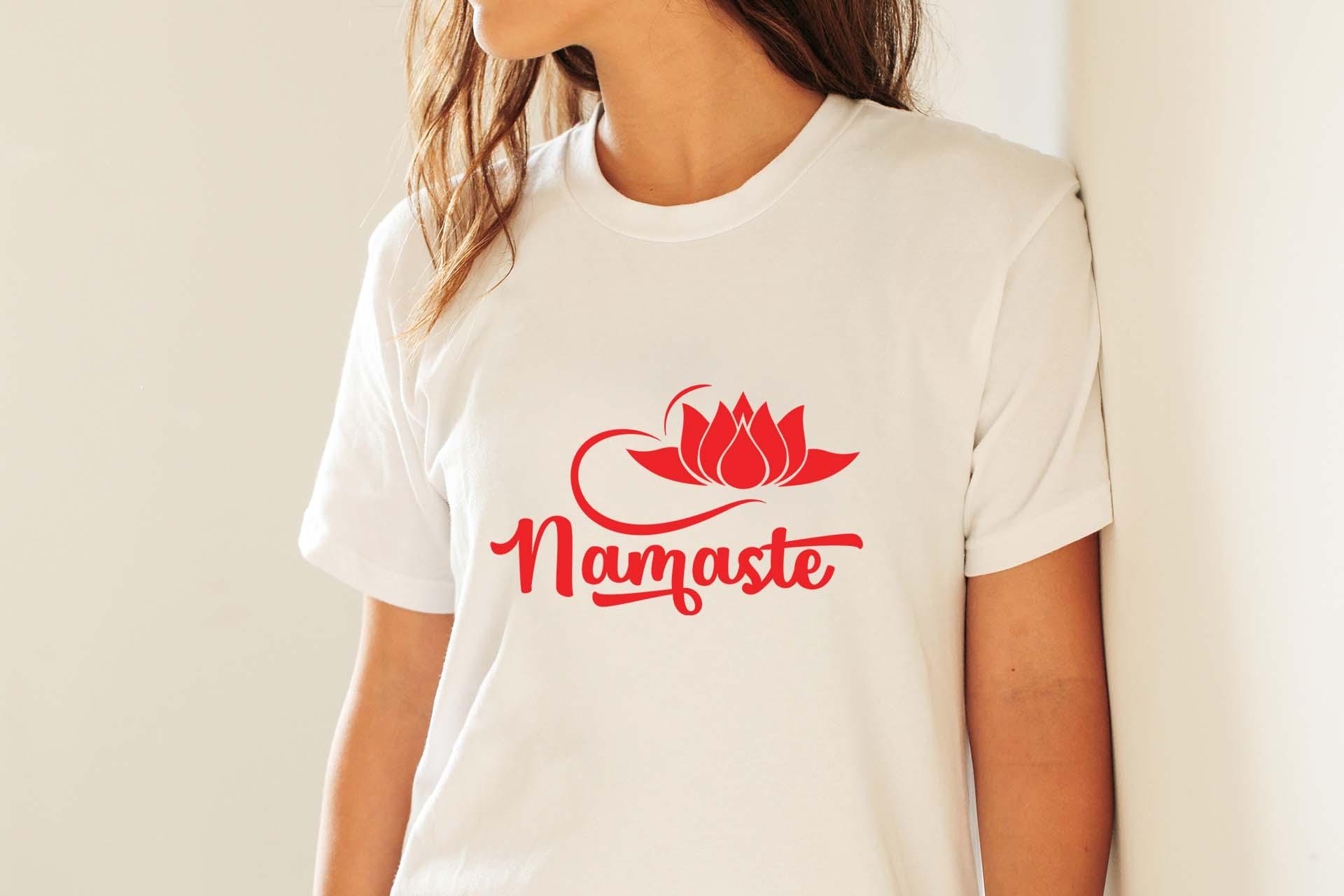Namaste SVG PNG EPS DXF | Yoga cut file example image 4