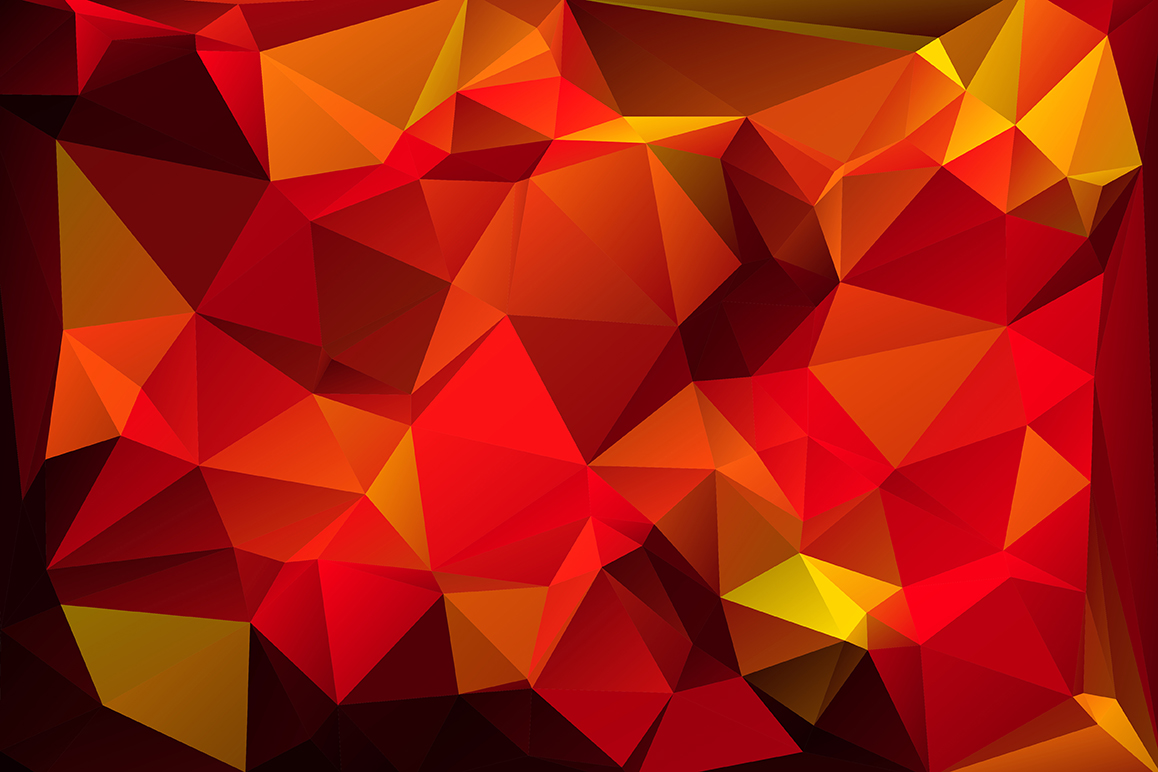 Polygon vector backgrounds set example image 10