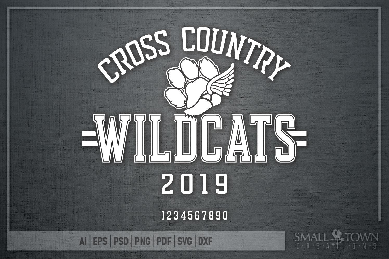 Wildcat Cross Country, Paw Print, PRINT, CUT & DESIGN example image 5