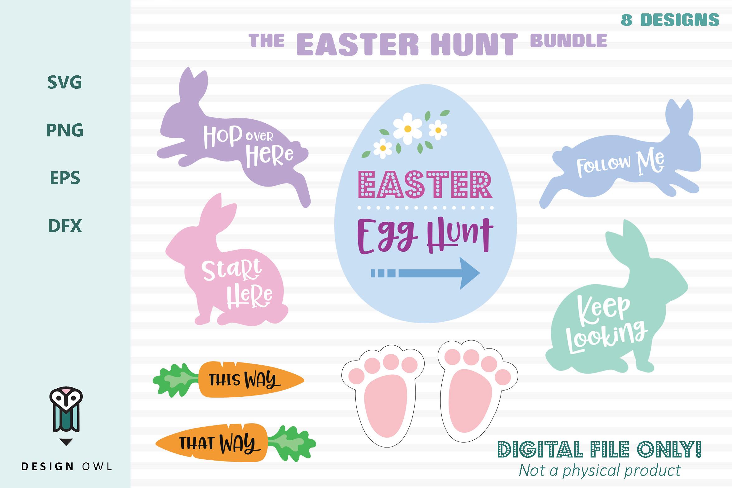 The Easter Hunt Bundle - SVG cut file bundle example image 1