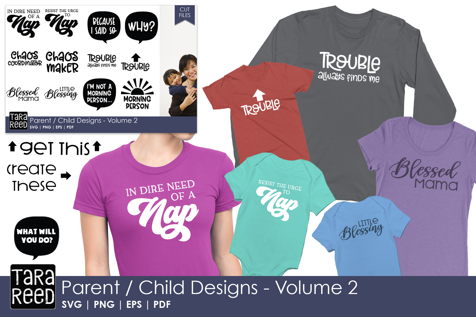 Parent Child Designs - Volume 2 - SVG and Cut Files example image 2