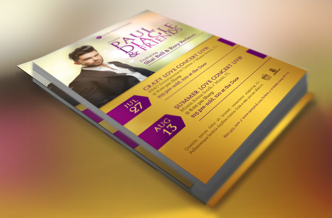 Concert Flyer Template  example image 2