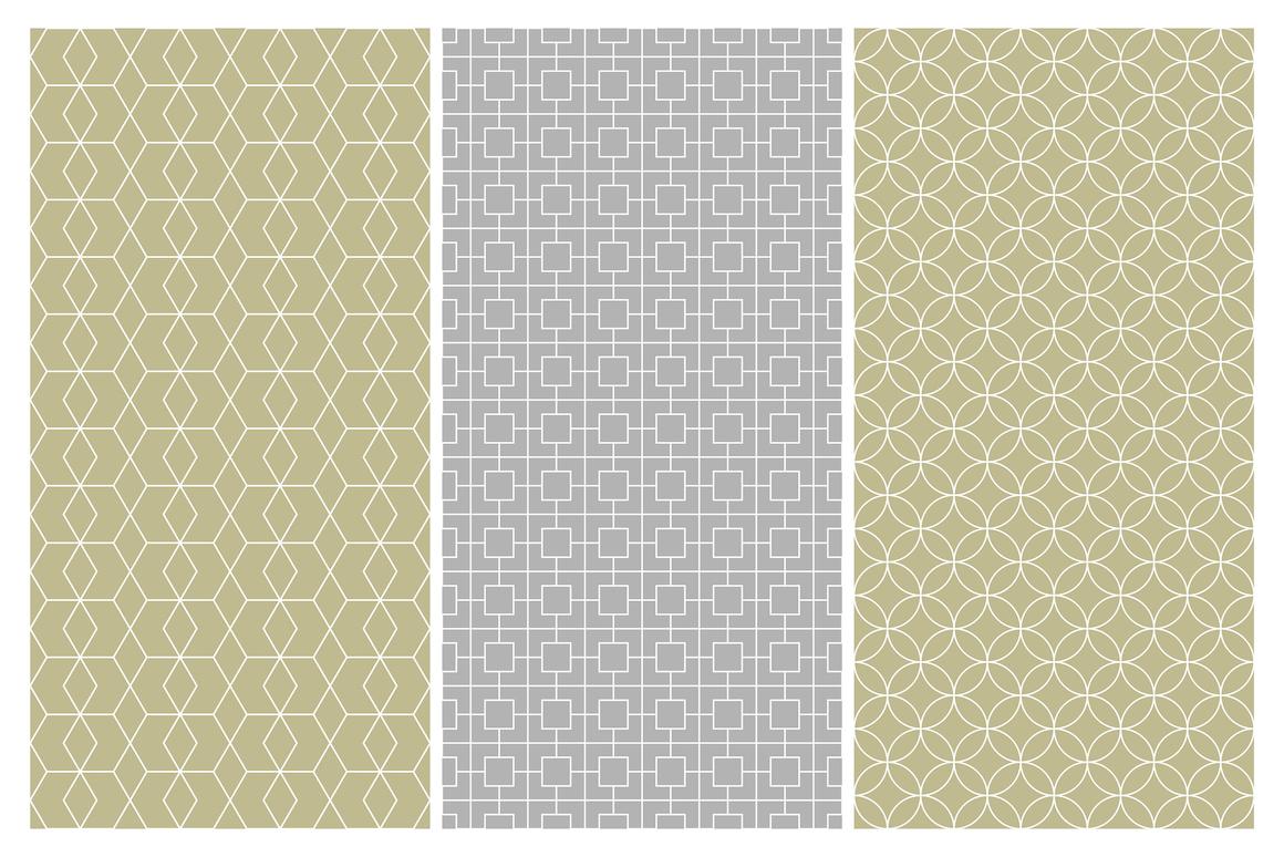 Geometric seamless symmetry patterns example image 11