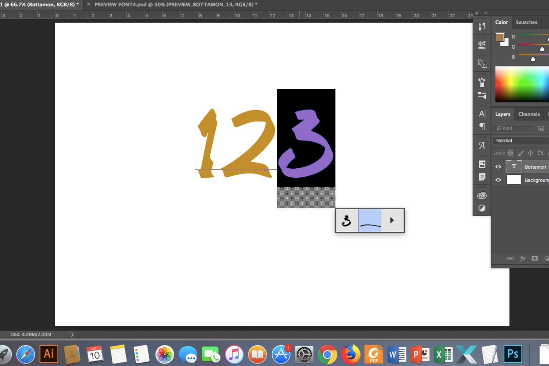 Bottamon Font Display example image 14