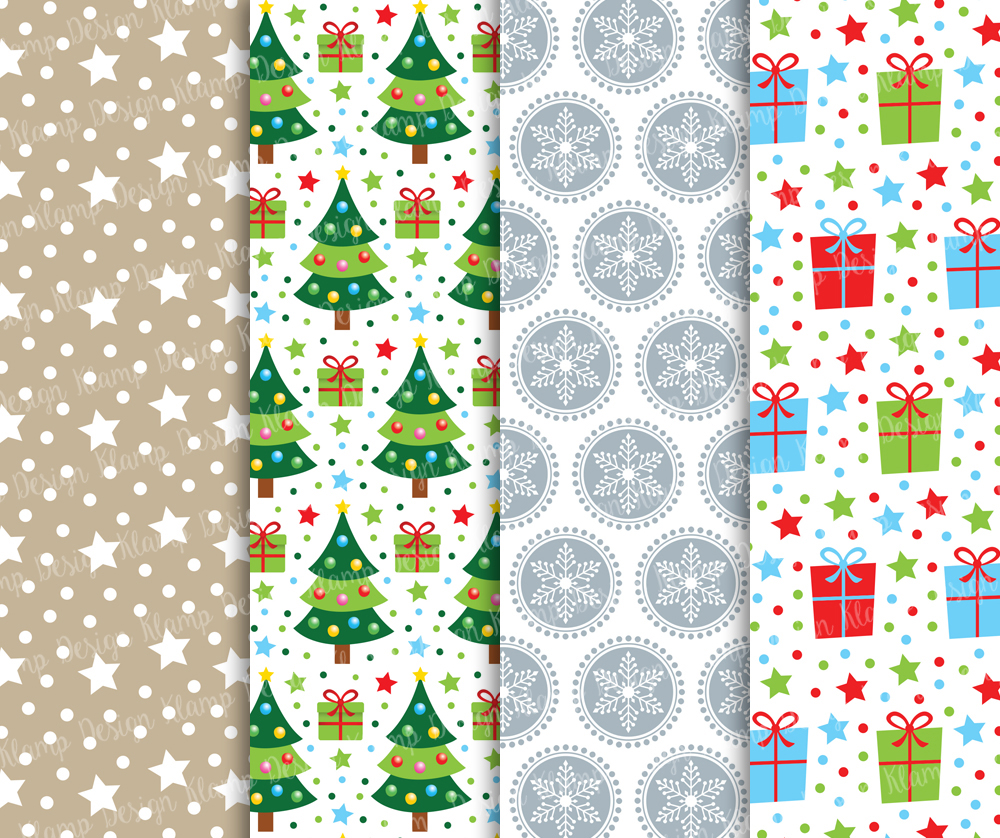 Christmas Digital Paper Pack / Christmas Background / Scrapbooking / Card Making / Patterns / Printables example image 4
