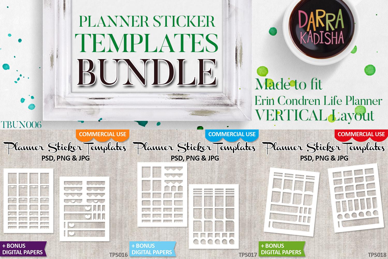 Templates Bundle Vol. 6 - Planner stickers Digital DIY Kit example image 2