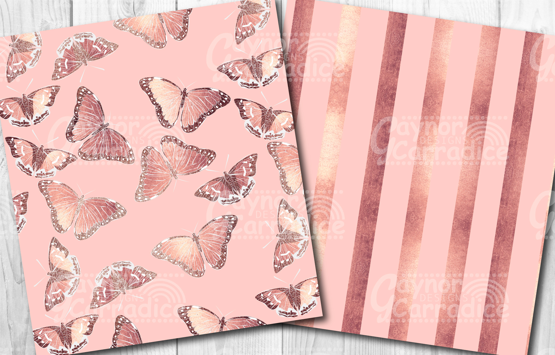 Rose Gold Butterfly Pattern Collection example image 5