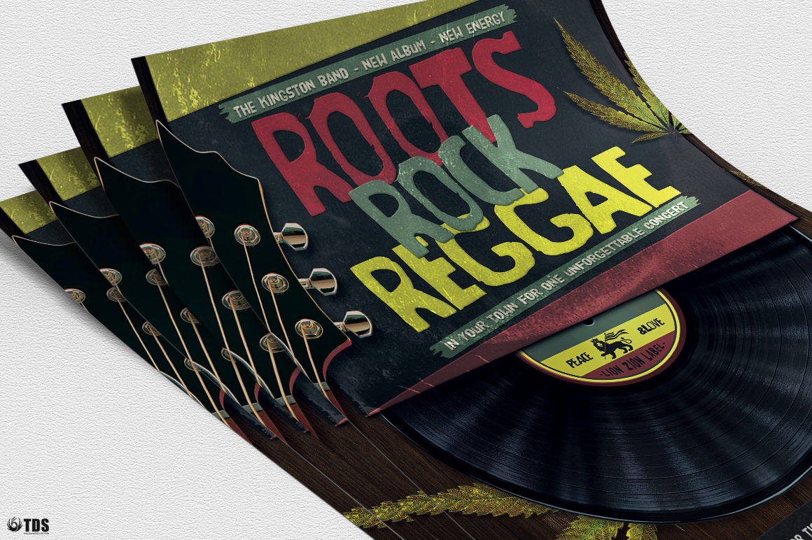 Roots Rock Reggae Flyer Template example image 6