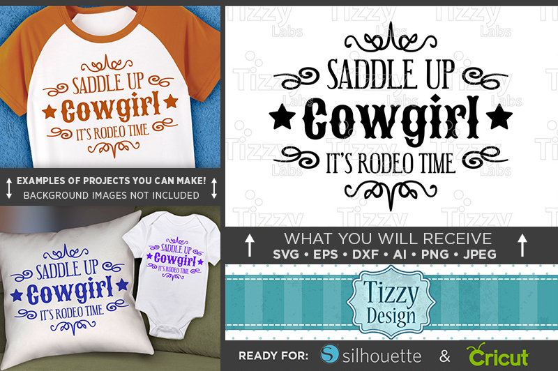 Saddle Up Cowgirl It's Rodeo Time SVG - Cute Shirt - 1088 example image 1