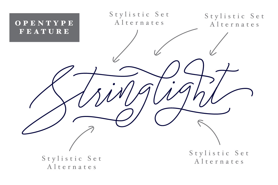 Stringlight Typeface example image 4