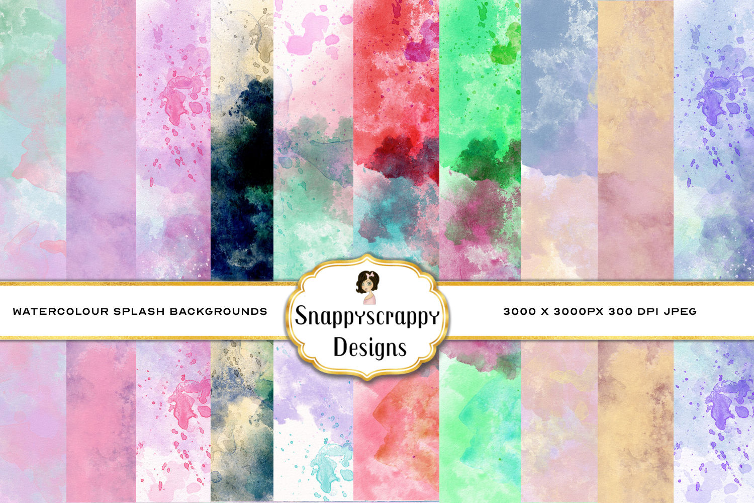 Watercolour Splash Background Papers example image 1