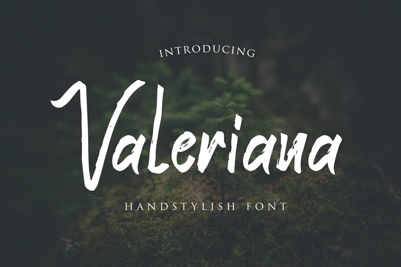 Valeriana Handstylish Font example image 1