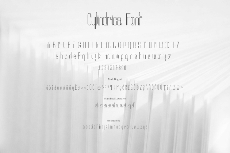 Cylindrica Font example image 6