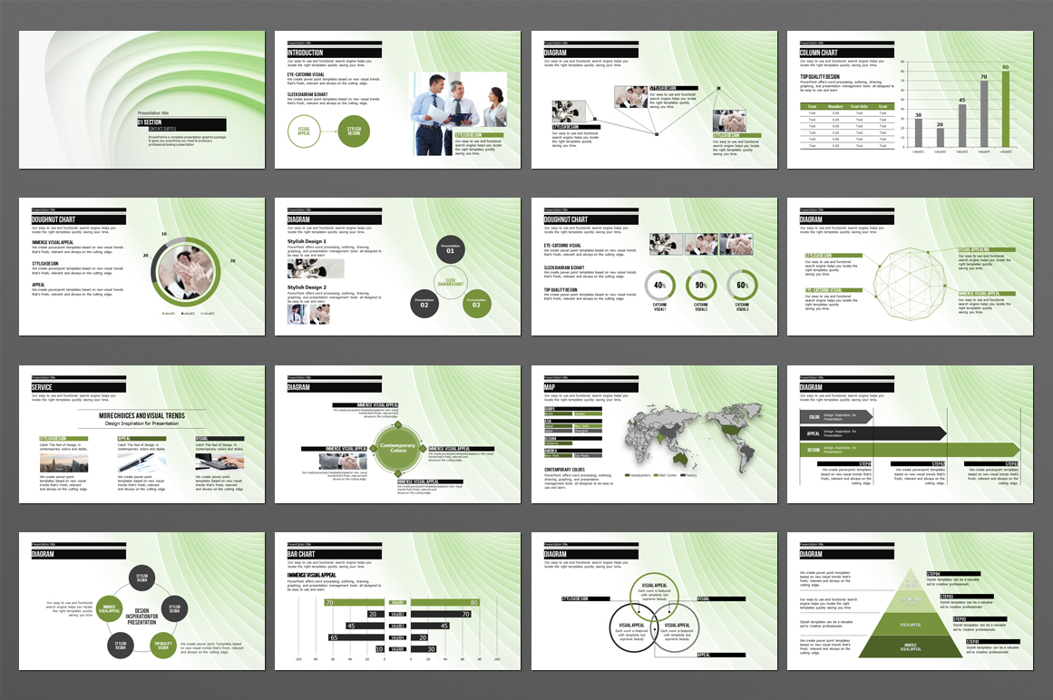 Abstract PowerPoint Template example image 3