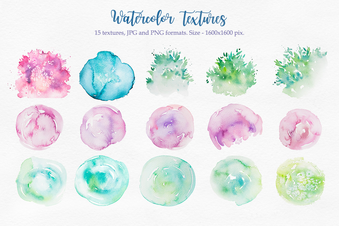 Watercolor textures example image 3