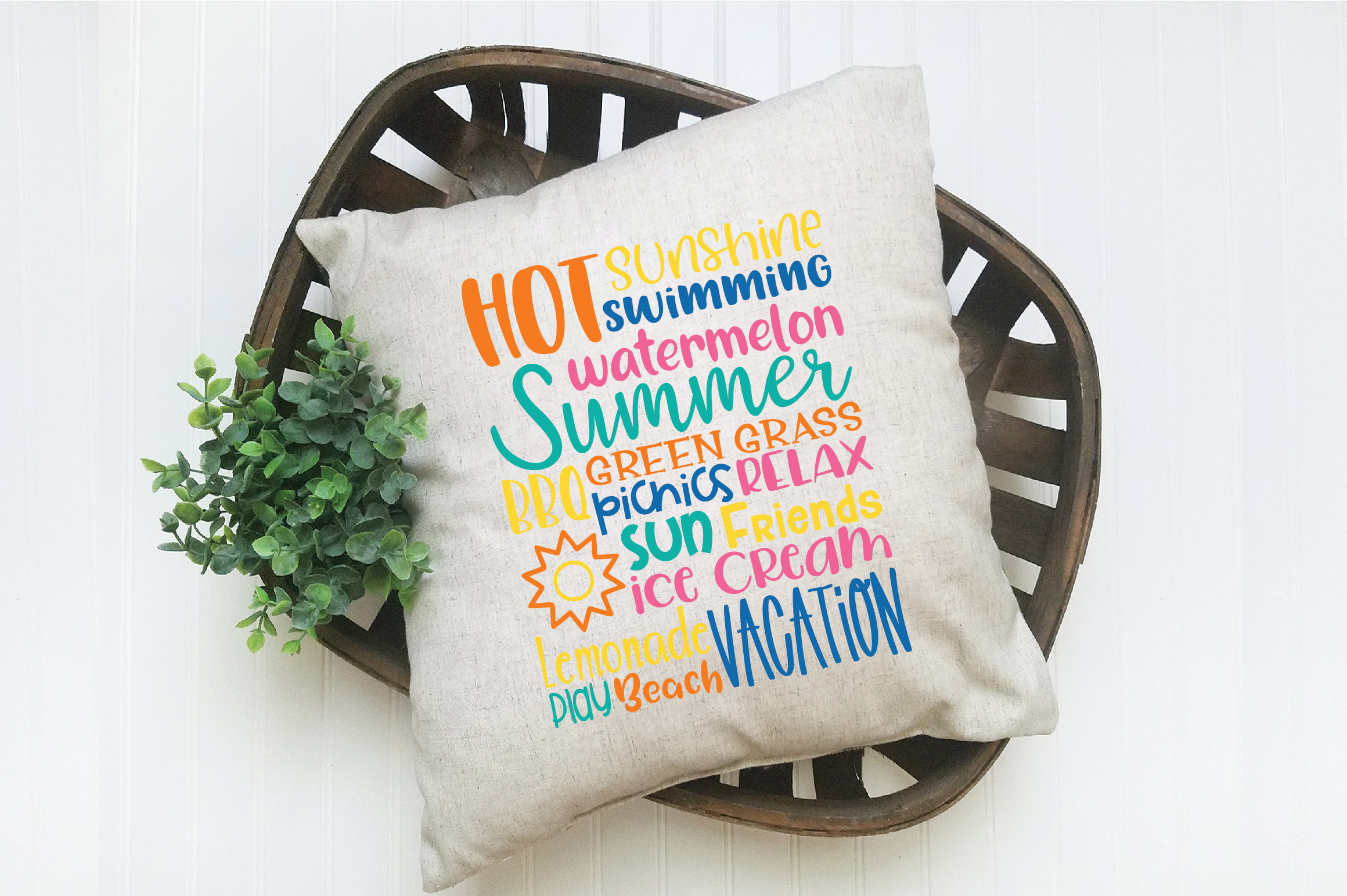 Summer Subway Art SVG Cut File example image 3