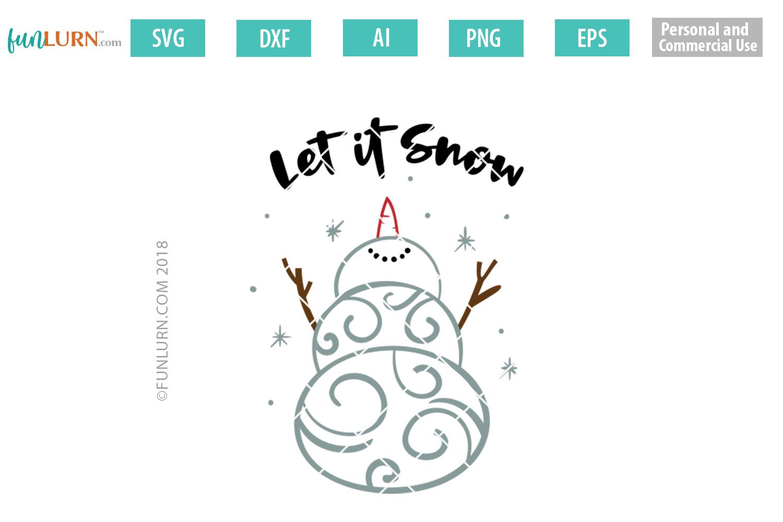 Swirly Snowman Bundle SVG example image 4