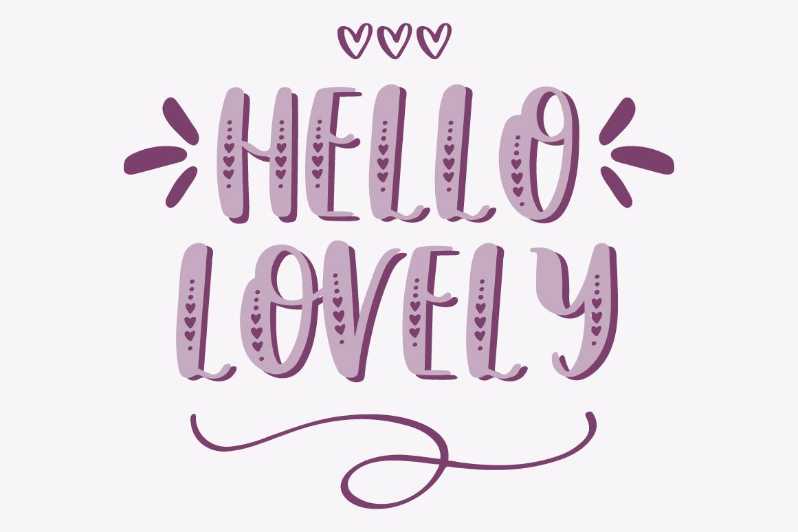 Lovebug Hand Lettered Font Trio, Valentine's Heart Font example image 2