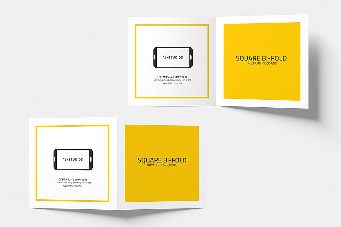 Square Bi-fold Brochure Mock-Up example image 7